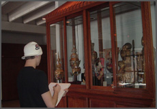 Every day, students and visitors are viewing more than 250 objects in the permanent collection.